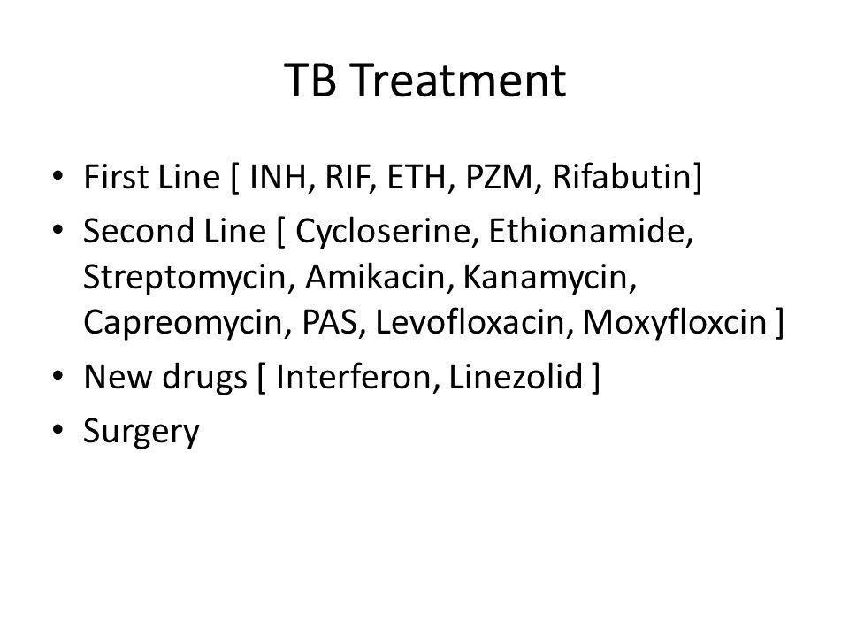 TB Treatment First Line [ INH, RIF, ETH, PZM, Rifabutin]